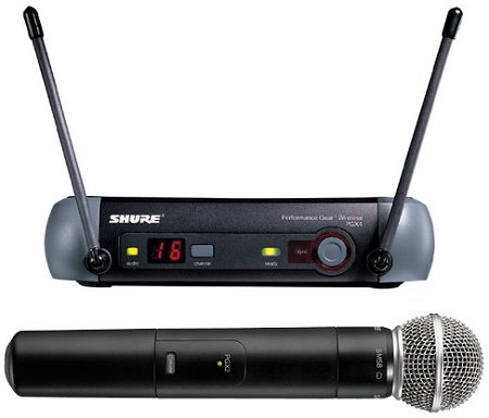 Microfono inalambrico de mano shure pgx sm 58