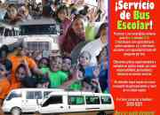 ¡Microbuses y busitos para escolares en éstas vacaciones 2013 ó el ciclo escolar 2014!
