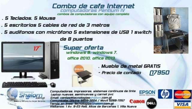 Combos para café internet