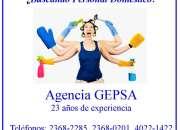 ¿necesita personal doméstico? agencia gepsa, empresa con 23 años de experiencia