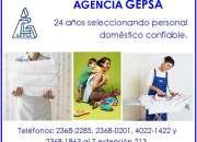 Agencia GEPSA, Empleadas Domésticas Confiables, 24 años de experiencia