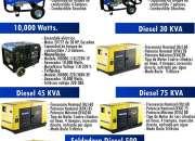 Generador, generadores, de electricidad, Diésel y Gasolina.