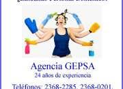 ¿Buscando Personal Doméstico? Agencia GEPSA 24 años de experiencia