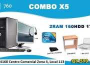 Combo DELL x5 Optiplex 760 Core 2 Duo Con 2Gb de RAM Todo Incluido!!