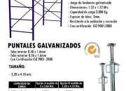 Puntales, andamio. galvanizados, estructurales y normados.