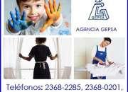 Empleadas del hogar confiables, agencia gepsa, 24 años de experiencia