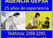 Agencia de empleadas domésticas gepsa, 25 años de experiencia