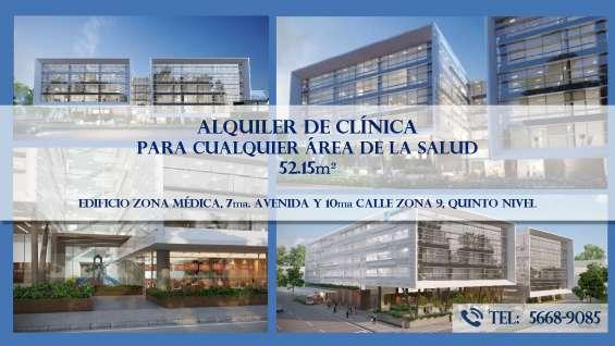 Alquiler de clínica médica, zona 9