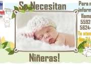 Agencia Jireh Necesita personal de Niñeras !!