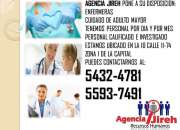 Agencia Jireh pone a tu disposición enfermeras para el cuidado de adulto mayor!