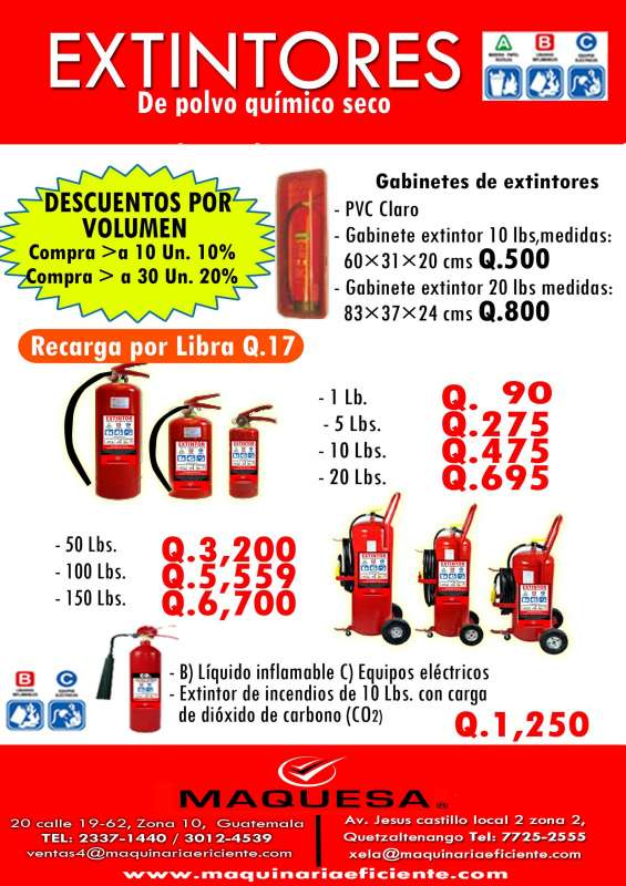 Te ofrecemos esta super oferta en extintores aprovecha!!
