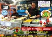 Taqueria a domicilio carreta de tacos mexicanos para evetos cerdo pollo res taquero evento