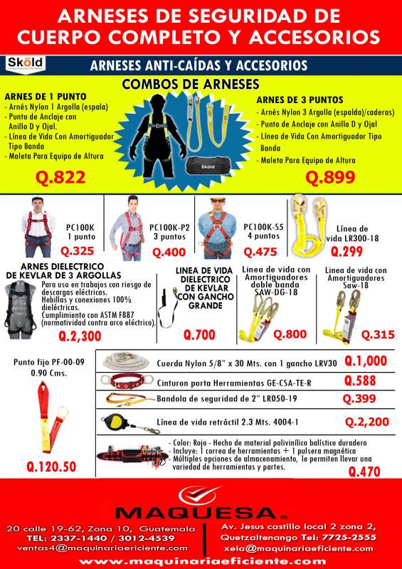 Te ofrecemos arneses de seguridad a un super precio aprovecha!!!