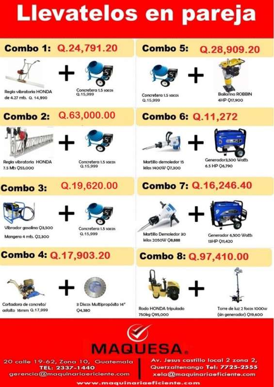 Te ofrecemos esta gran oferta en equipo de construccion aprovecha!!