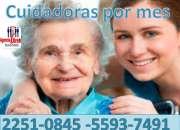 Cuidado de personas adultas y  servicio de enfermeria por horas, dias, turnos, mes