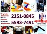 Servicio domestico, personal con disponibilidad inmediata, solo llamenos