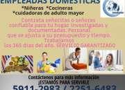 Servicios domésticos por mes y por día