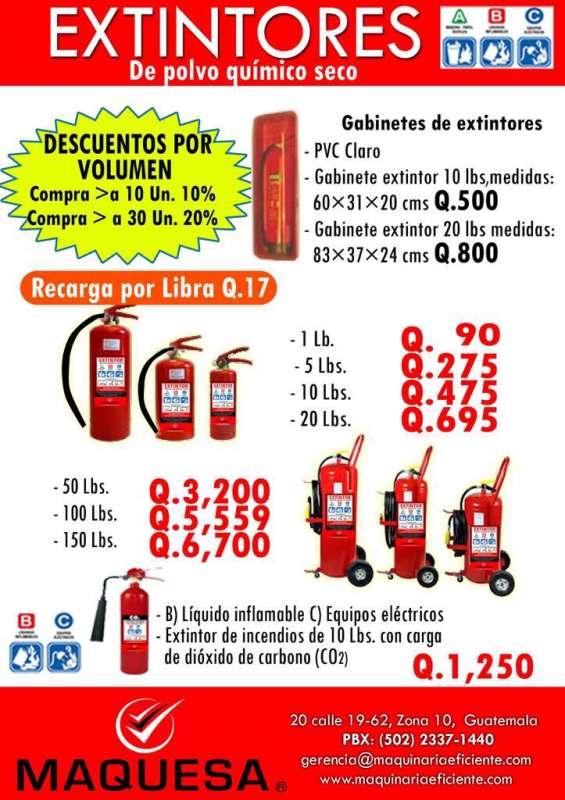 Extintores maquesa certificados de abc y co2