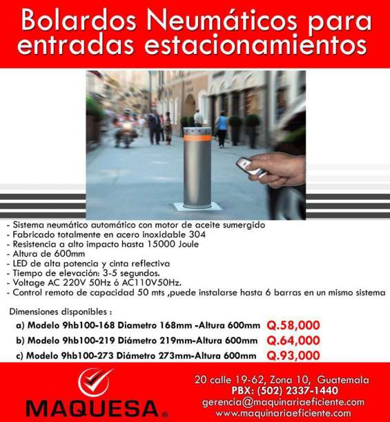 Bolardos en oferta el implemento ideal para sus condominios!!