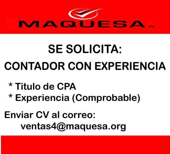 Oportunidad de empleo contador con experiencia!!