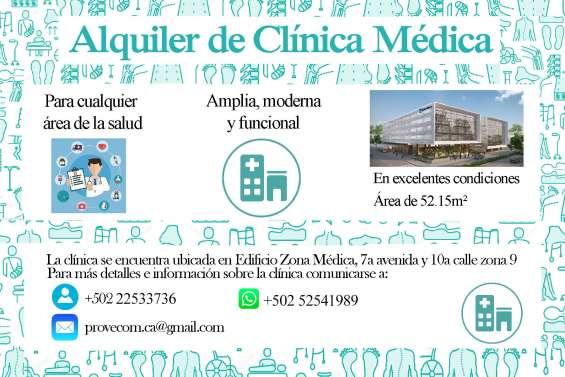 Clínica médica en alquiler, zona 9