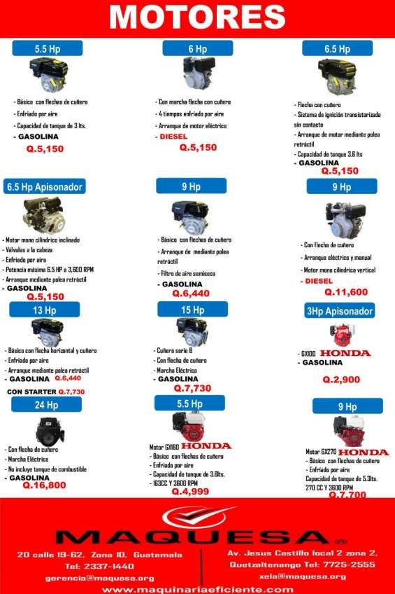 Gran oferta en motores estacionarios aprovecha!!