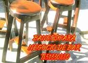 VENDO BANCOS PARA NEGOCIO DE BAR