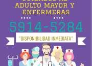 Cuidado de adulto mayor, por personal  investigado y con experiencia.