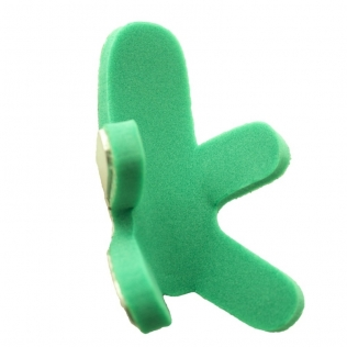 Férula de rana para dedo, fabricada con aluminio maleable almohadillado