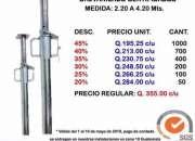 Aprovecha nuestra oferta limitada de PUNTALES DE ACERO GALVANIZADOS