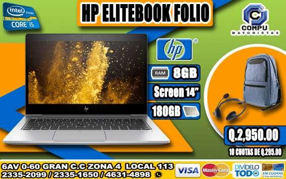 Laptops hp con disco de máximo rendimiento + mochila+audífonos, compacta, a q 2,950.00