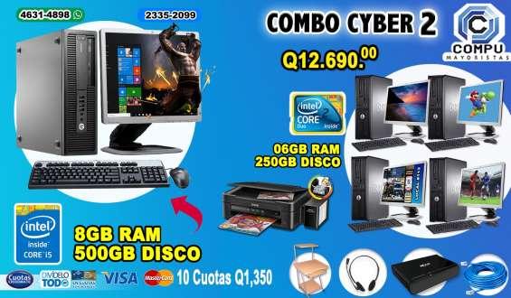 Combos power, 04 computadoras hp core2duo+01 computadora hp corei5