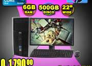 COMPUTADORAS HP COMPLETAS CON MONITOR DE 22 PULGADAS, A TAN SOLO Q 1,790.00