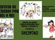 SERVICIO DE COCINERO POR DÍA O POR MES