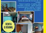 Venta de casa en ZONA 12 - Reformita , es de terraza y de 1.5 niveles.