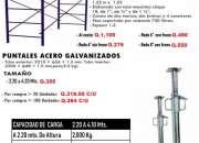 Puntales y andamios galvanizados-