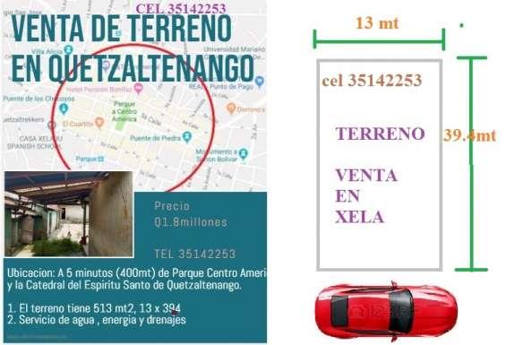 Venta de terreno en zona 1 del municipio de quetzaltenango