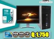 COMPUTADORAS HP CON PROTECCIÓN INCLUIDA, ANTIVIRUS NOD 32, TAN SOLO Q 1,750.00,