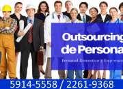 Outsourcing de personal, empresarial, express, temporales, entre muchas opciones mas
