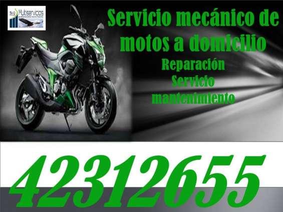 Mecánico de motos a domicilio, somos rapidez, confianza y garantía