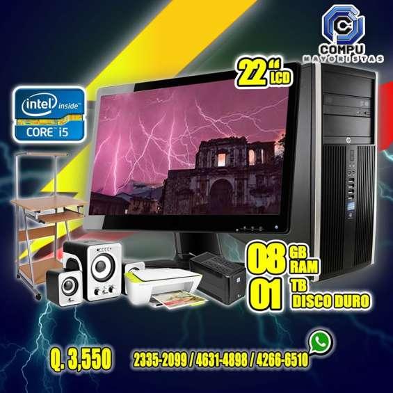 Combo dell con procesador corei5, mueble+upc+impresora+bocinas
