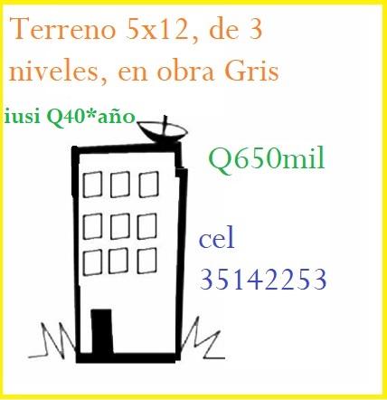 Venta de casa de 3 niveles en zona 12 reformita, esta en obra gris